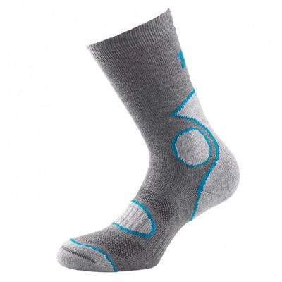 1000 Mile 2 Season Performance Single Layer Socks-Grey/Blue