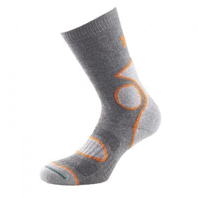 1000 Mile 2 Season Performance Single Layer Socks-Orange/Grey