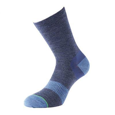 1000 Mile Approach Ladies Walking Socks-Blue