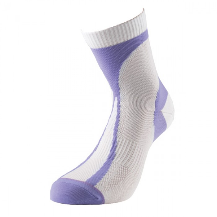 Image of 1000 Mile Tactel Race Ladies Running Socks - White/Purple, UK 3 - 5.5