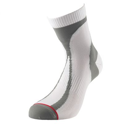1000 Mile Tactel Race Single Layer Socks-White/Grey