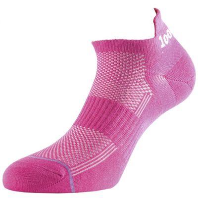 1000 Mile Tactel Trainer Liner Ladies Running Socks-Pink