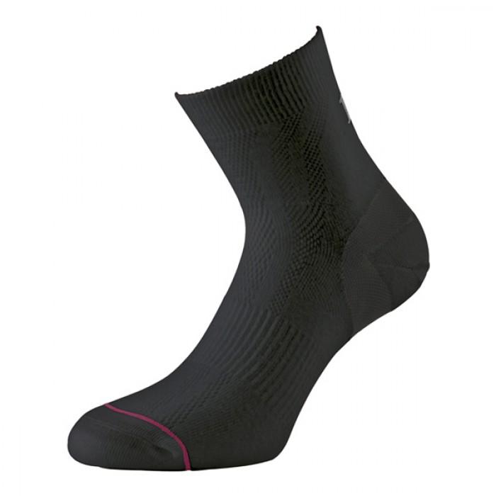 Image of 1000 Mile Ultimate Tactel Anklet Ladies Socks - Black, UK 3 - 5.5