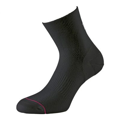 1000 Mile Tactel Double Layer Ultimate Anklet Socks-Black