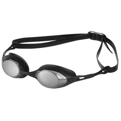 Arena Cobra Mirrored Racing Goggles Smoke Silver Black