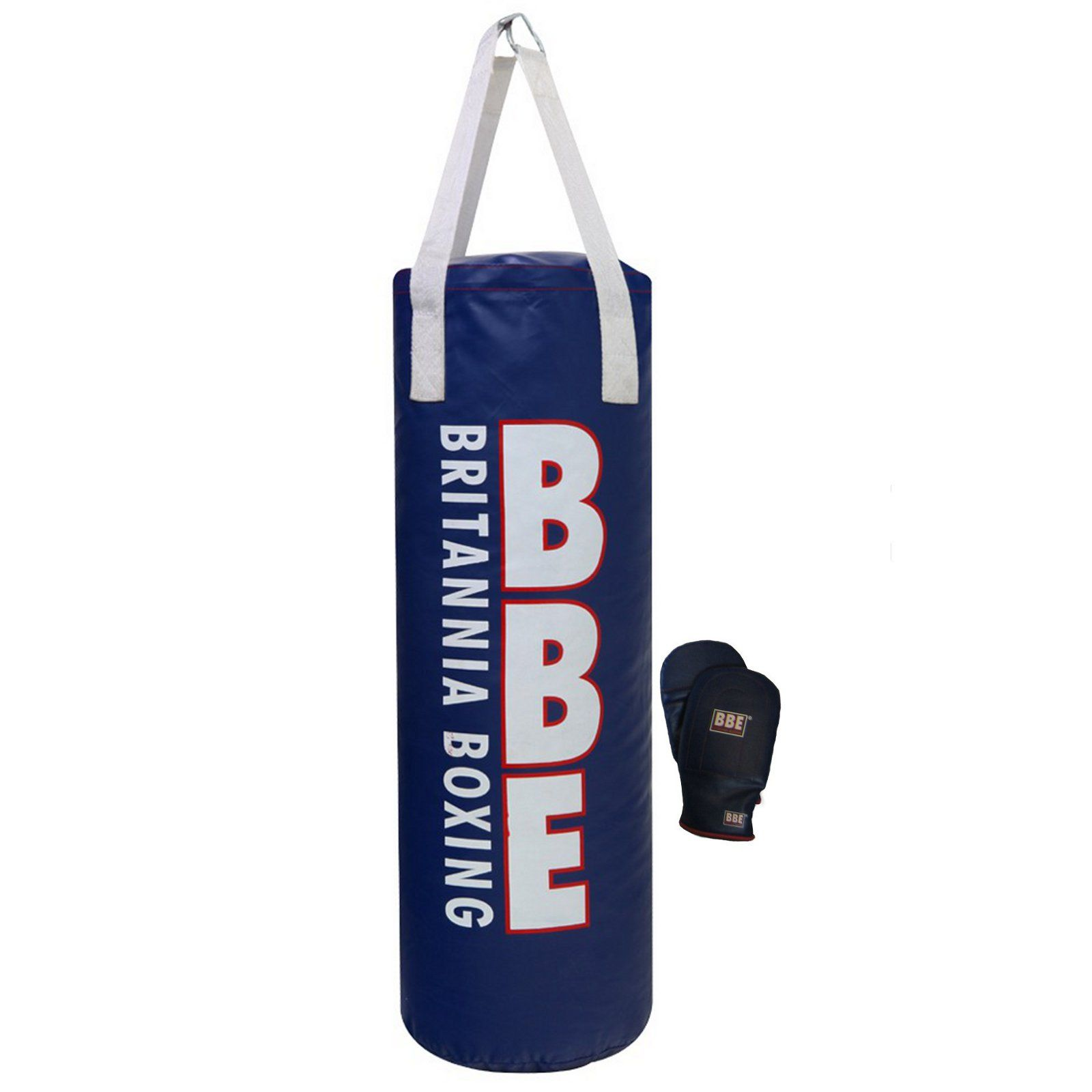 bbe 3ft punch bag with mitts sweatband