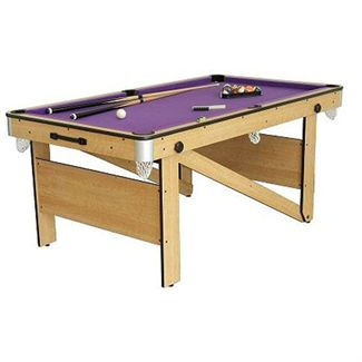 BCE Rolling Lay Flat Pool Table - 6 Foot (CP-6AG)