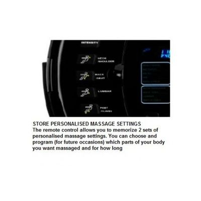 M650 Venice Personalised Massage Settings
