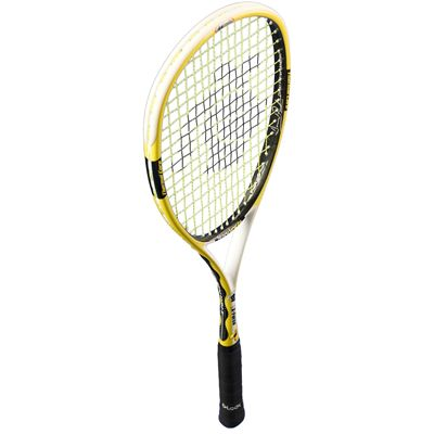 Black Knight Ion X Force Yellow Squash Racket - Angled View
