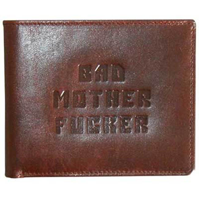 Image of Brown Bad Mutha Wallets as seen on Pulp Fiction