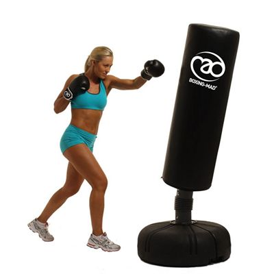 Boxing Mad Free Standing Punch Bag - In Use