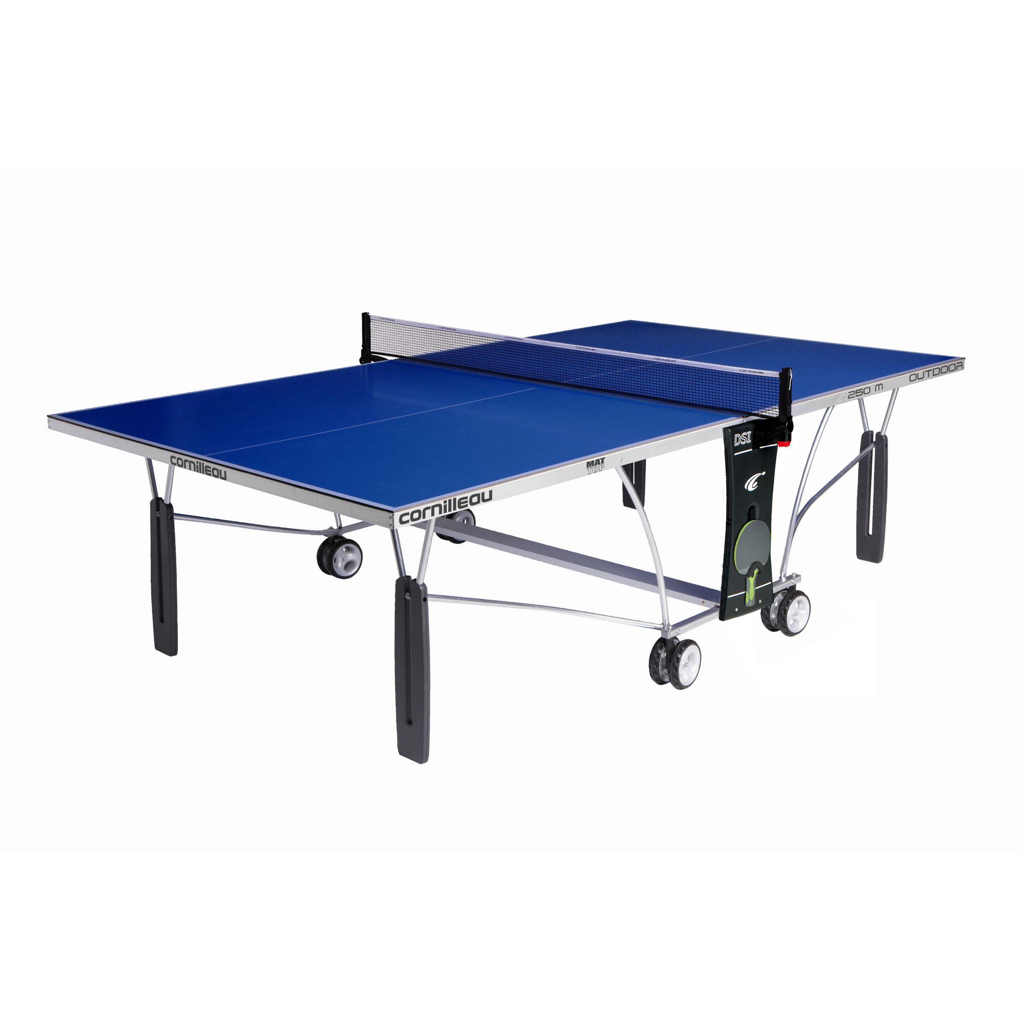 Cornilleau outdoor sport 250m rollaway table tennis table - Cornilleau outdoor table tennis cover ...
