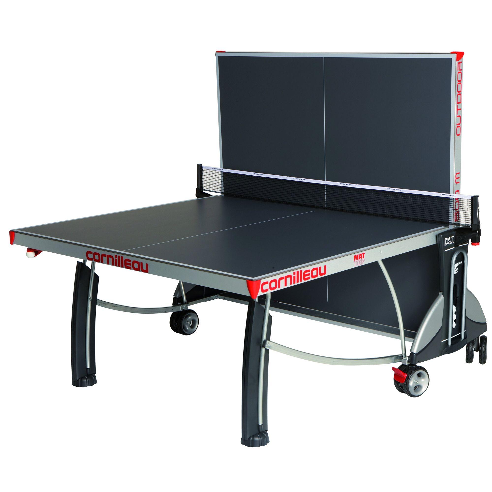 Cornilleau sport 500m rollaway 7mm outdoor table tennis table - Table cornilleau 500m outdoor ...