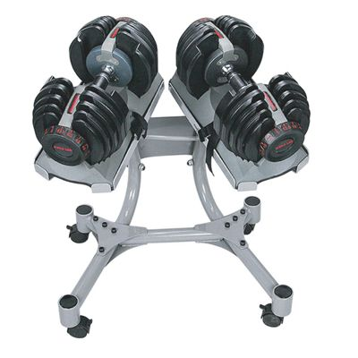 DKN Selector Weight Stand With Dumbbells