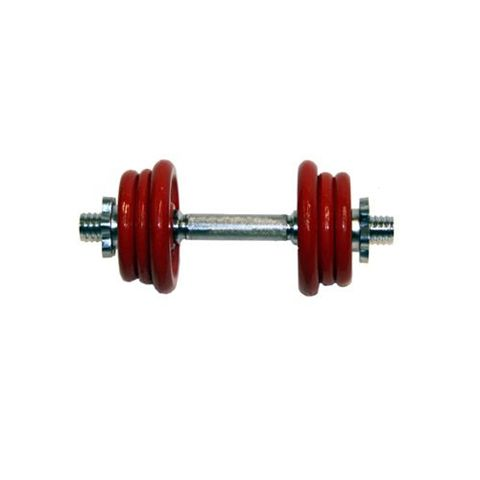DKN 10kg Red Cast Iron Champion Dumbbell