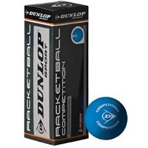 Dunlop Competition Racketball Ball - 3 Ball Box