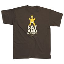 The Simpsons Fat and Happy T-Shirt