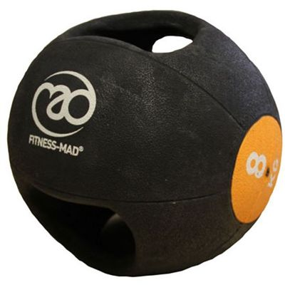 Fitness Mad 8kg Double Grip Medicine Ball