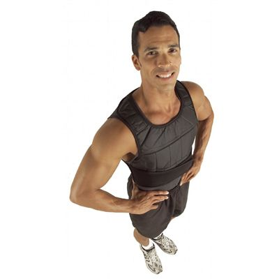 GoFit 40lb Unisex Adjustable Weighted Vest In Use