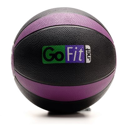 GoFit 6lb Rubber MedBall and DVD