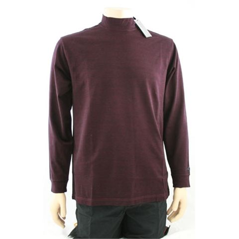 Greg Norman Playdry Long Sleeve Mock Golf Shirt