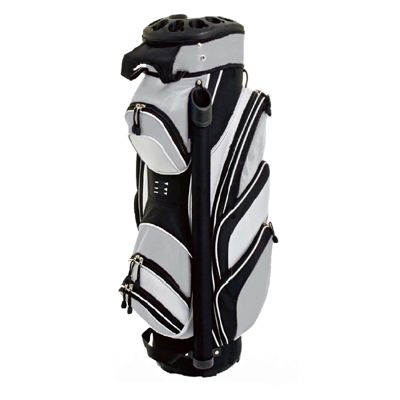 Grip Lock Cart Bag  - Black/Silver