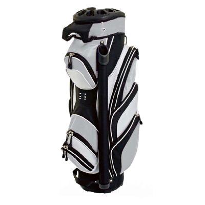 Grip Lock Cart Bag  - Black/Silver