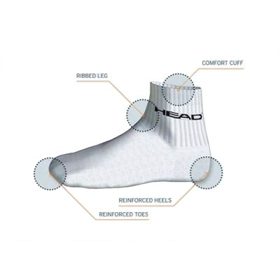 Head Low Cut Plain Socks - Technology