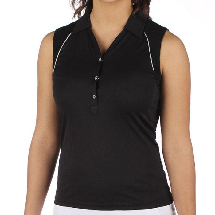 Sleeveless Polo Shirts Womens