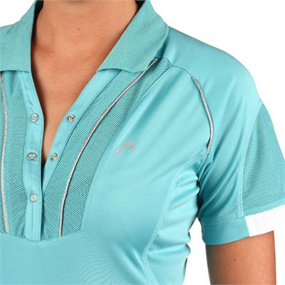 Head Performance Women Polo Shirt Blue - Detail