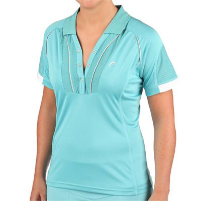 Head Performance Women Polo Shirt Blue - Front