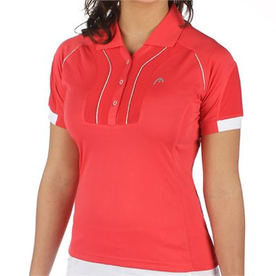 Head Performance Women Polo Shirt Pink - Front