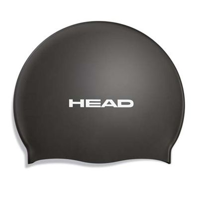 Head Silicone Flat Cap - Black