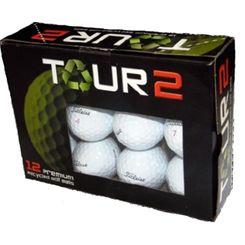 Tour 2 Titleist ProV1x Lake Balls (12 balls)