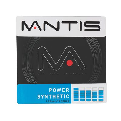 Mantis Power Synthetic Tennis String - Black