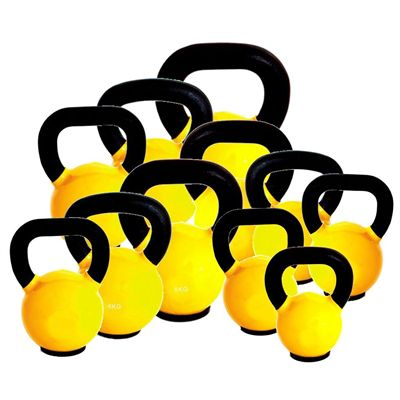 Marcy Cast Iron Vinyl Dipped 174kg Kettlebell Set