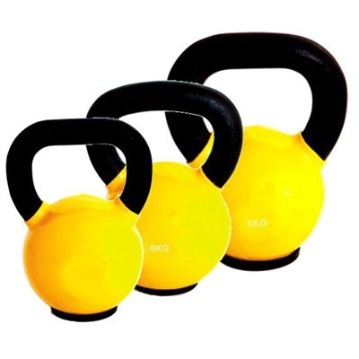 Marcy Cast Iron Vinyl Dipped 4 6 8 kg Kettlebell Set