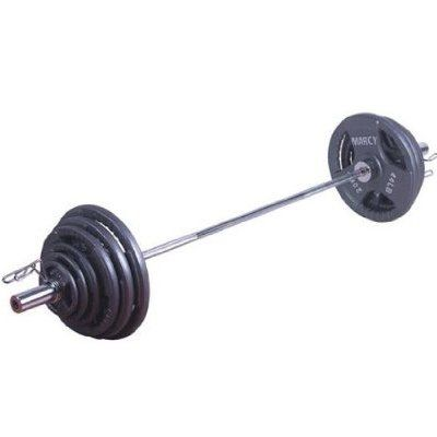 Marcy 140kg Olympic Tri-Grip Barbell Set