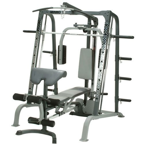 Marcy sm4000 deluxe smith machine and weight bench - Striale banc de musculation multi power ...