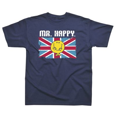 Mr Happy Union Jack Kids T-Shirt