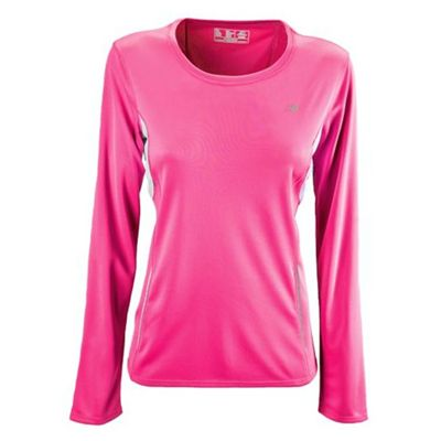 New Balance Womens CB Tempo Long Sleeve Top - Pink