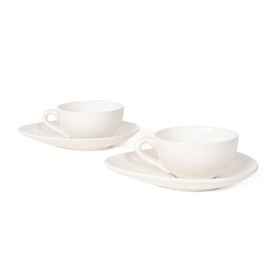 Nigella Lawson Cappuccino Coffee Cups & Saucers - Cream