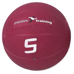 Precision Training 5kg Rubber Medicine Ball