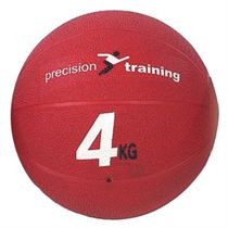 Precision Training 4kg Rubber Medicine Ball