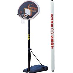 Sure Shot 520 Heavy Duty Portable Basketball Unit with pole padding
