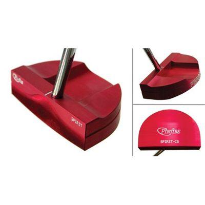 Pinfire Spirit Golf Putter - Centre Shaft Red