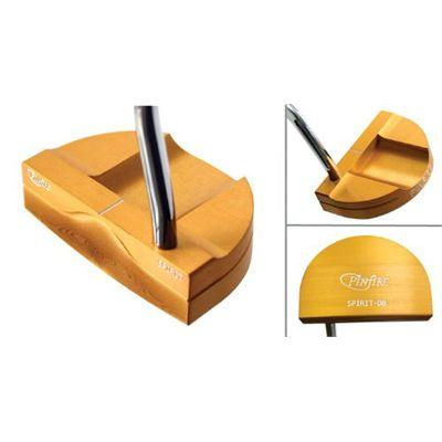 Pinfire Spirit Golf Putter - Double Bend Gold