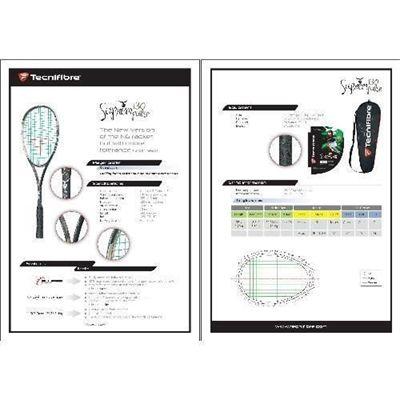 Tecnifibre Suprem 130 Pulse Squash Racket - Spec Sheet