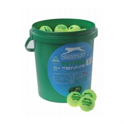 Slazenger Mini Tennis Green - 60 Ball Bucket
