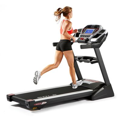 Sole F83 Folding Treadmill in Use - Back View